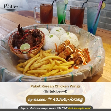 Platter Korea Chicken Wings Deal