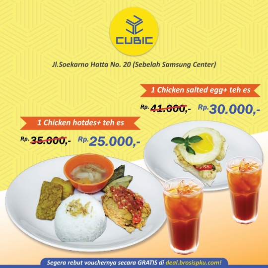 Cubic Cafe Resto Chicken Deal