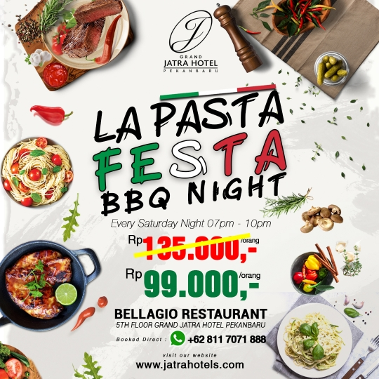 Jatra Kampoeng La Pasta Festa Bbq Night Deal (saturday Only)