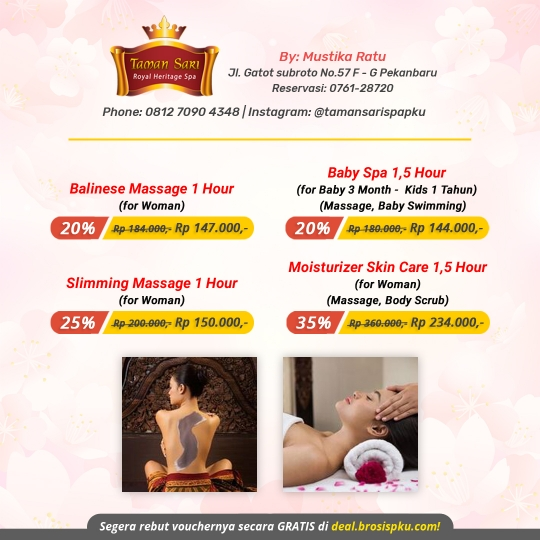 Taman Sari Royal Heritage Spa Special Deal