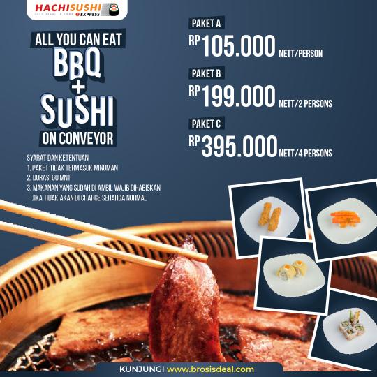 Hachi Sushi Express Ayce Bbq+sushi Deal