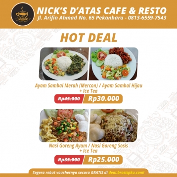 Nicks Coffee Resto Hot Deal