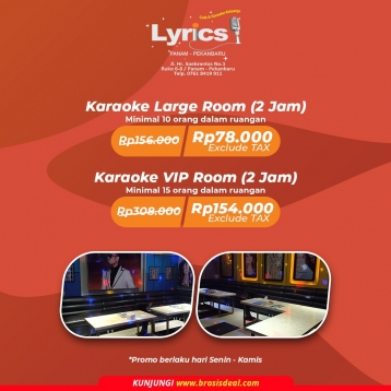 Lyrics Cafe & Karaoke Keluarga Deal (monday-thursday)