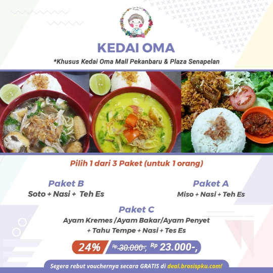 Kedai Oma Mp Dan Senapelan Deal (monday - Thursday )