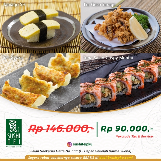 Sushi Tei Deal (monday - Friday)