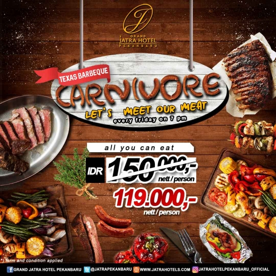 Jatra Carnivore Halloween Barbeque Deal (friday Only)