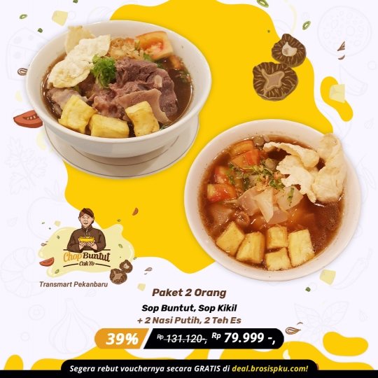 Chop Buntut Cak Yo Berdua Deal (monday - Friday)