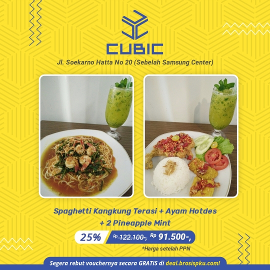 Cubic Cafe Resto Berdua Deal