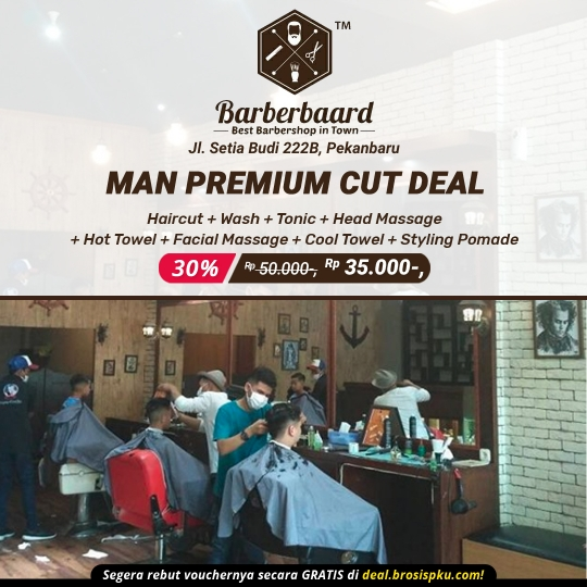 Barber Baard Man Premium Cut Deal