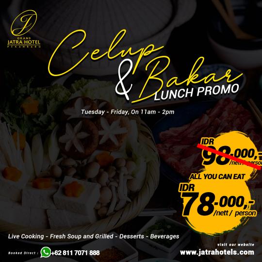 Jatra Celup Dan Bakar Lunch Deal