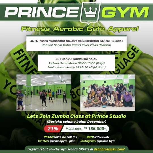 Prince Gym Zumba Class Deal