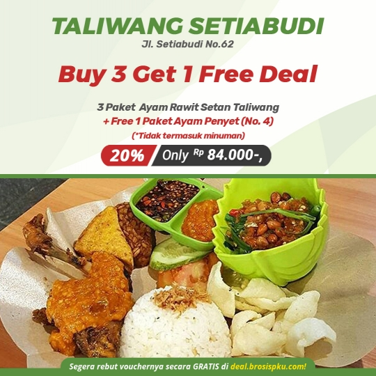 Ayam Taliwang Buy 3 Get 1 Free Deal
