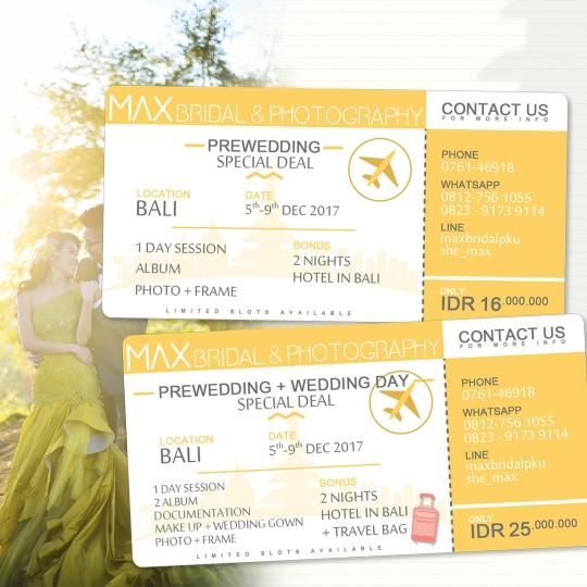 Max Bridal Photography Prewedding Bali Deal
