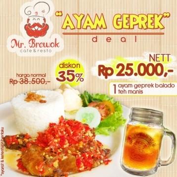 Mr Brewok Ayam Geprek Deal