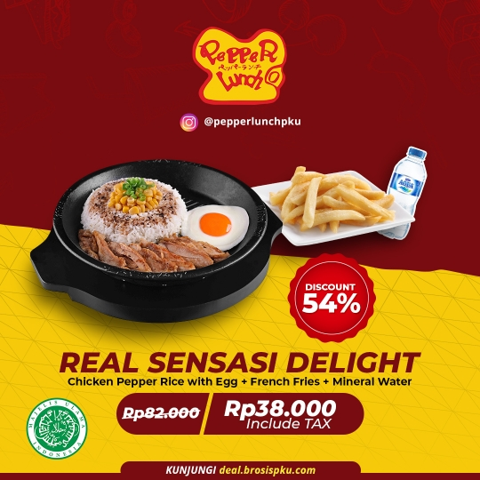 Pepper Lunch Real Sensasi Delight Deal (monday-friday)