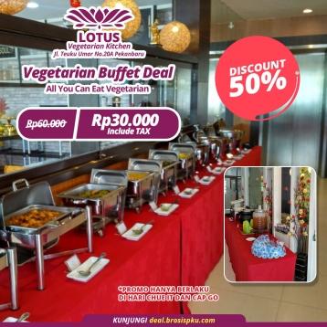 Lotus Vegetarian Kitchen Buffet Deal