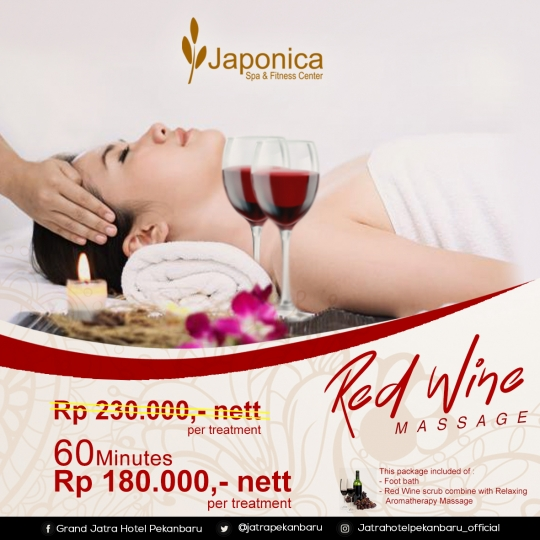 Japonica Red Wine Massage Deal