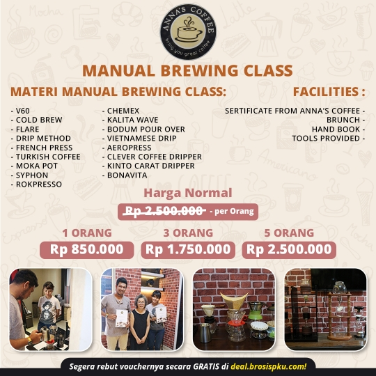 Anna's Coffee Manual Brewing Class Deal