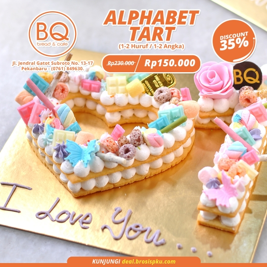 Bread Boutique Alphabet Tart Deal