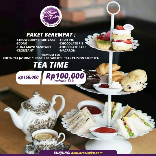 Lcheese Factory Tea Time Deal