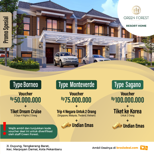 Green Forest Resort Home Deal (promo Bulan Desember)