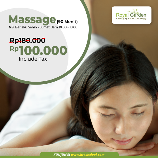 Royal Garden Family Spa Massage Deal (monday-friday)