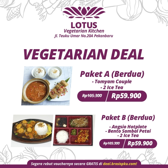Lotus Vegetarian Berdua Deal