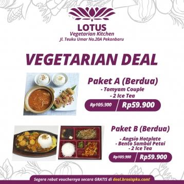 Lotus Vegetarian Berdua Deal