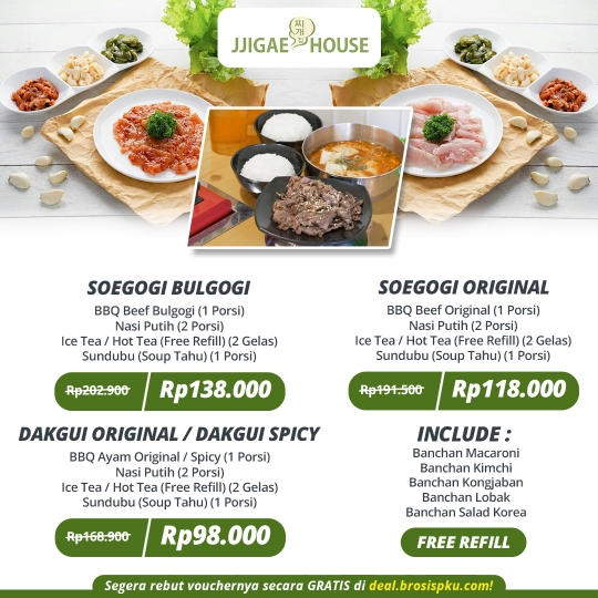 Jjigae House Soegogi Deal (monday - Friday)