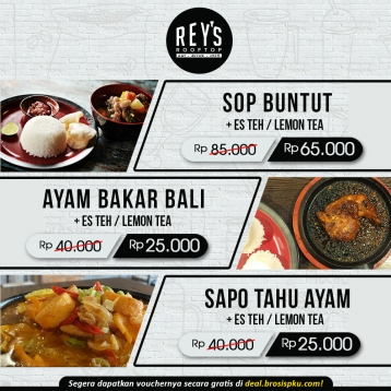 Reys Roof Top Cafe Deal