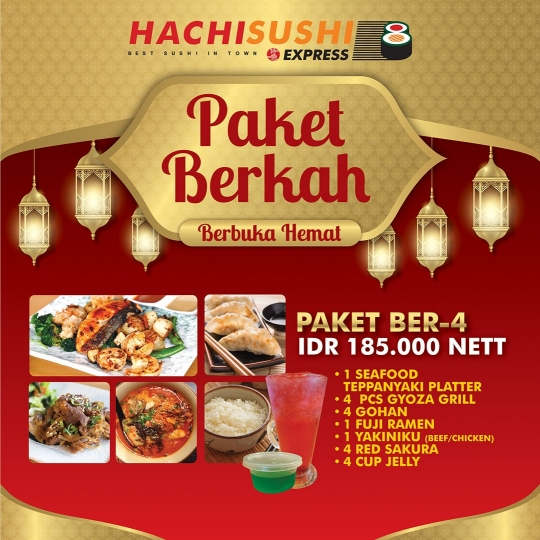 Hachi Sushi Express Buka Puasa Berempat Deal
