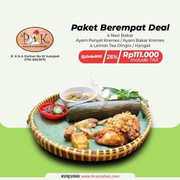 Pondok Ayam Kremes Paket Berempat Deal