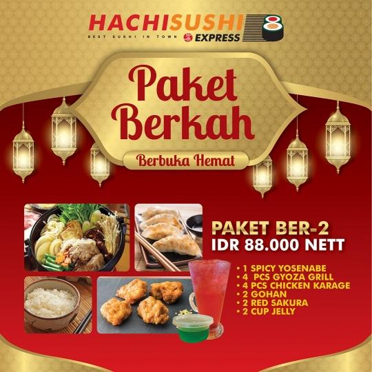 Hachi Sushi Express Paket Berkah Deal