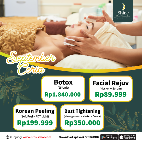 Shine Clinic Facial September Ceria Deal