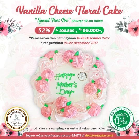 Jajanan Bandung Vanilla Cheese Floral Cake Deal