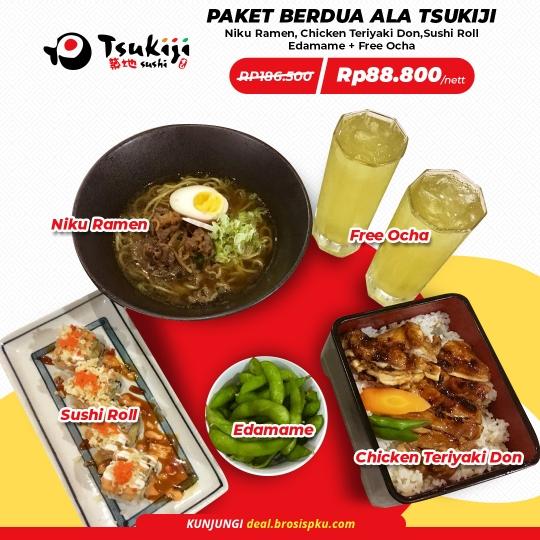 Tsukiji Sushi Paket Berdua Deal