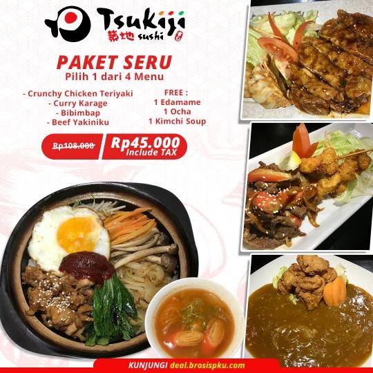 Tsukiji Sushi Paket Seru Deal