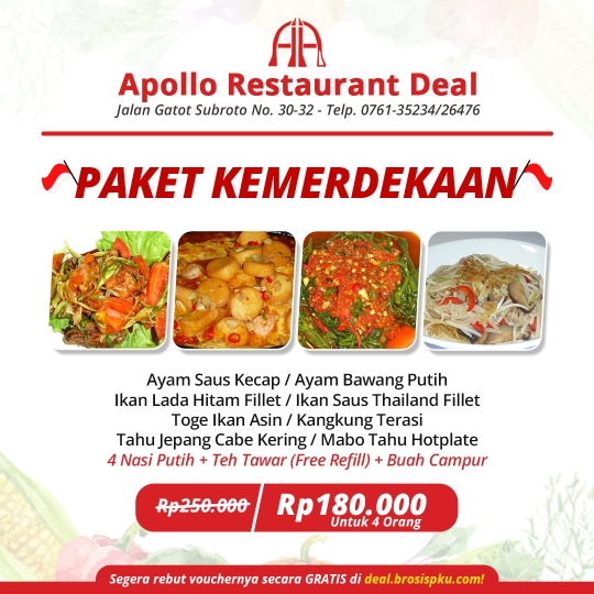 Apollo Restaurant Kemerdekaan Deal
