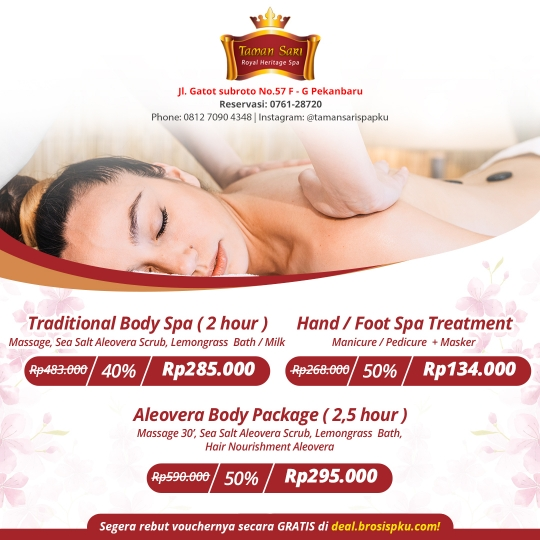 Taman Sari Royal Heristage Spa Deal