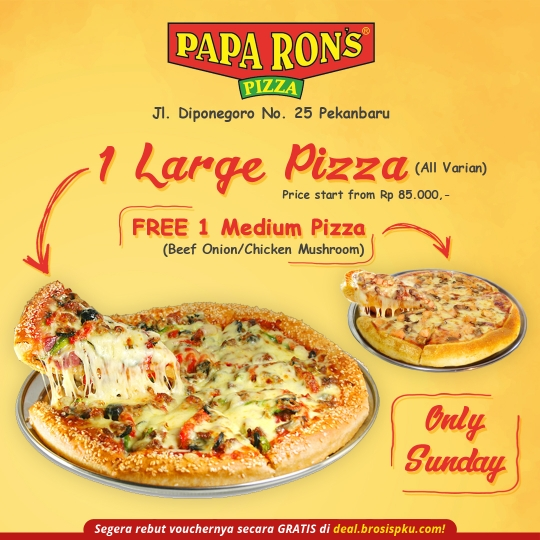 Paparons Pizza Sunday Deal (sunday Only)