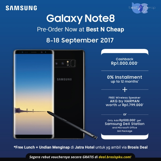 Preoder Samsung Galaxy Note 8 Deal