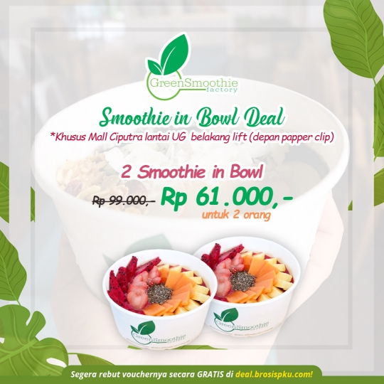 Green Smoothie Factory Smoothie In Bowl Deal