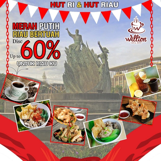 Willton Cafe N Resto Merah Putih Riau Bertuah Deal (monday-friday)