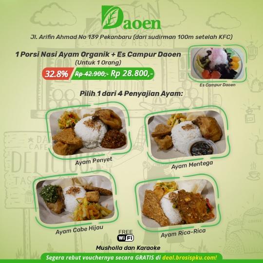 Daoen Cafe Resto Ayam Organik Deal