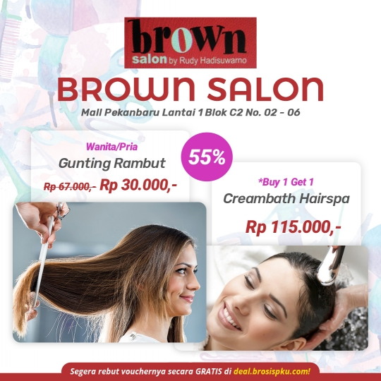 Brown Salon Deal (monday - Friday)