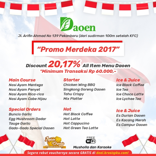 Daoen Cafe Resto Merdeka 2017 Deal