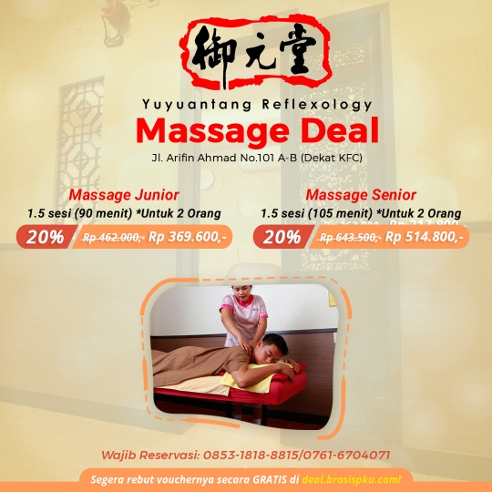 Yu Yuan Tang Massage Deal (monday-friday)