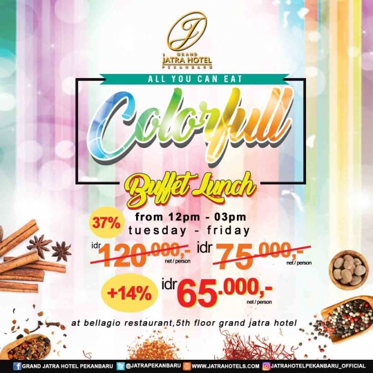 Jatra Colorfull Buffet Lunch Deal (tuesday-friday)