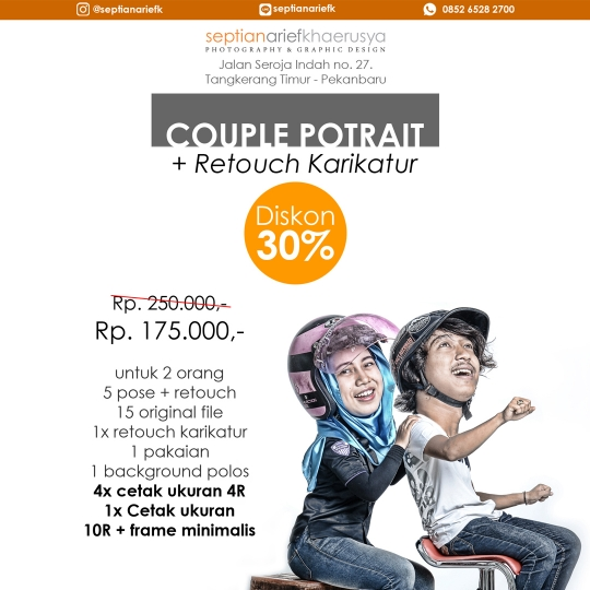 Septian Arief Studio Couple Karikatur Deal