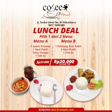 Coffee Shoot Lunch Deal